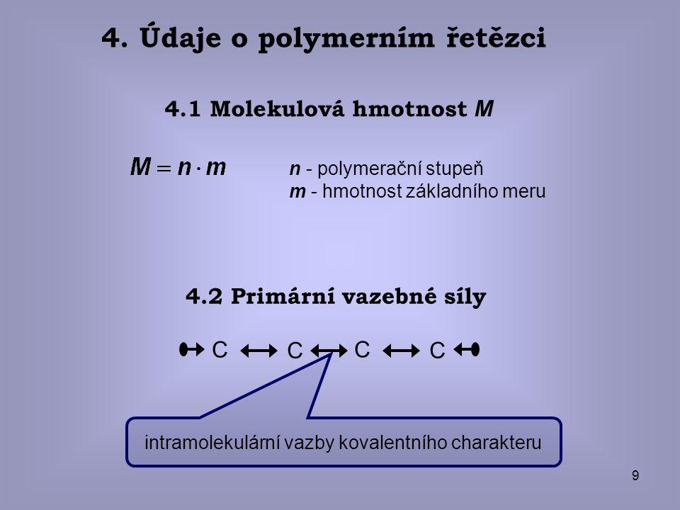 4. Údaje o polymerním řetězci