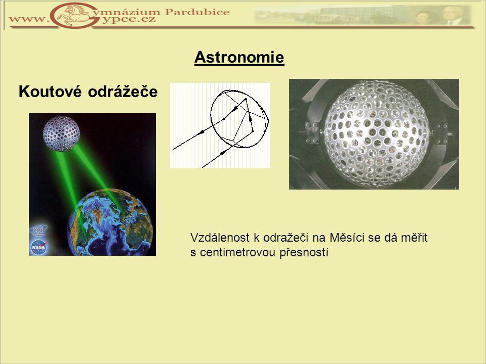 Astronomie Koutové odrážeče