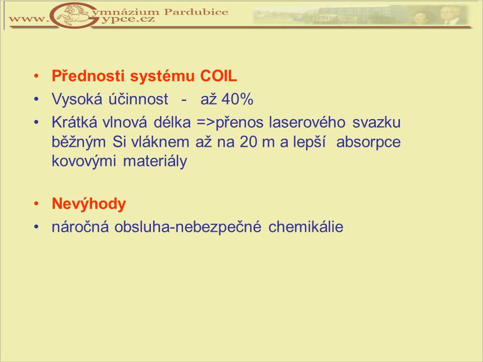 Přednosti systému COIL