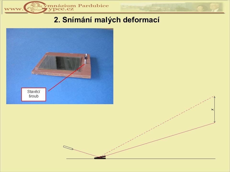 2. Snímání malých deformací