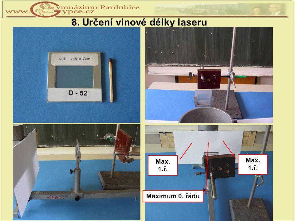 8. Určení vlnové délky laseru