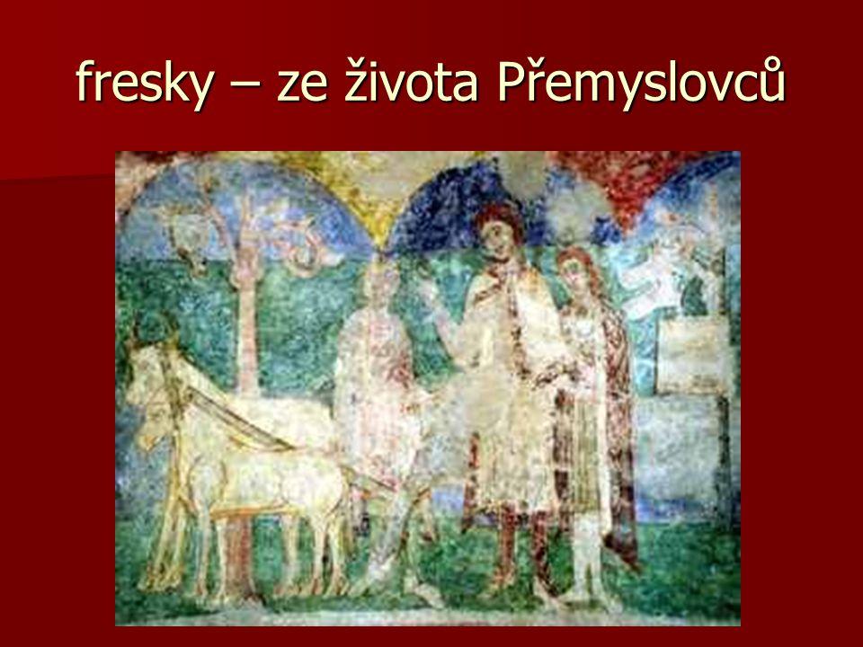 fresky – ze života Přemyslovců
