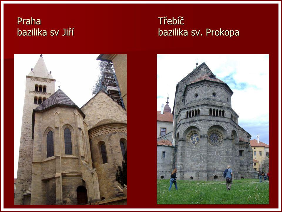 Praha Třebíč bazilika sv Jiří bazilika sv. Prokopa