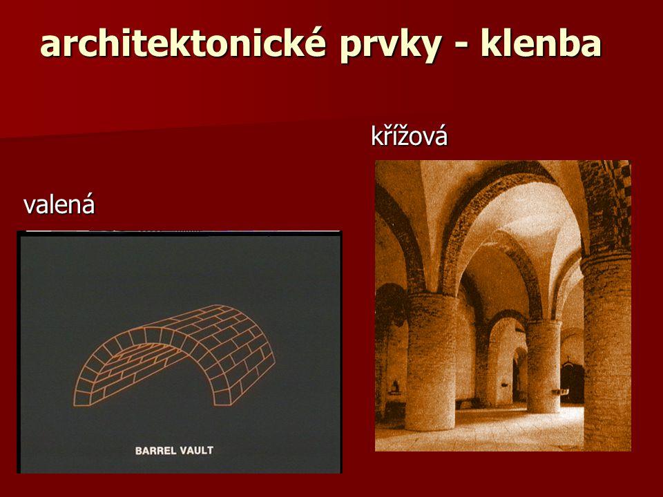 architektonické prvky - klenba