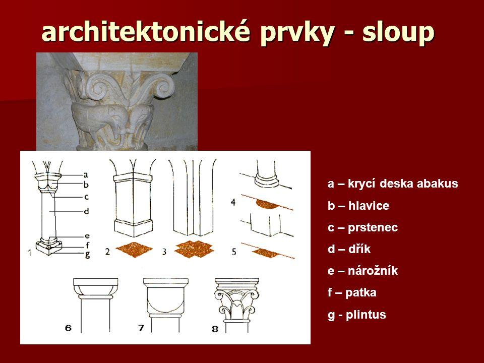 architektonické prvky - sloup