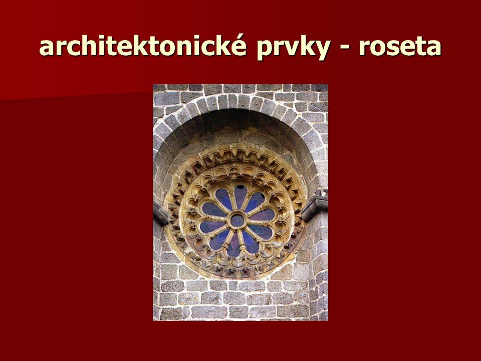 architektonické prvky - roseta