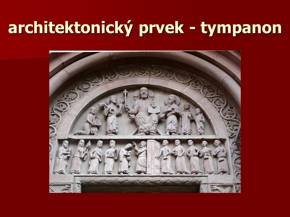 architektonický prvek - tympanon