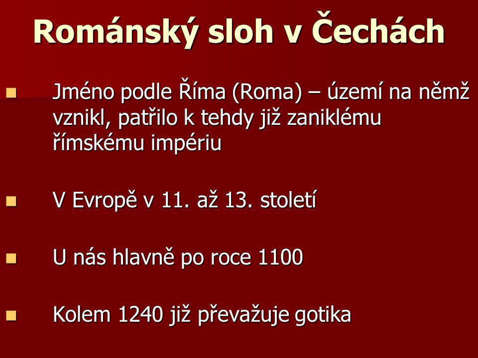 Románský sloh v Čechách