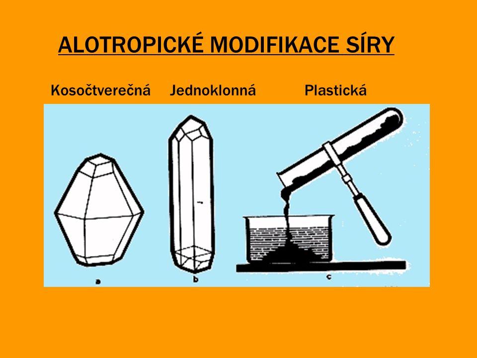ALOTROPICKÉ MODIFIKACE SÍRY