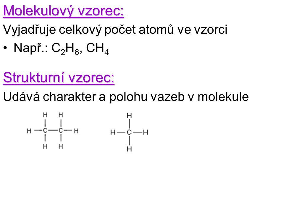Molekulový vzorec: Strukturní vzorec: