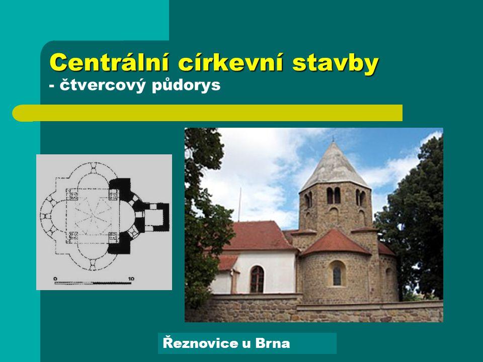 Centrální církevní stavby - čtvercový půdorys