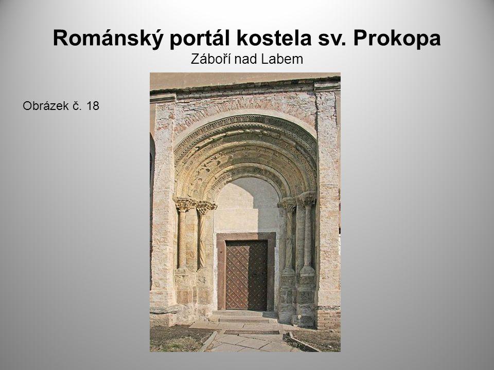Románský portál kostela sv. Prokopa Záboří nad Labem