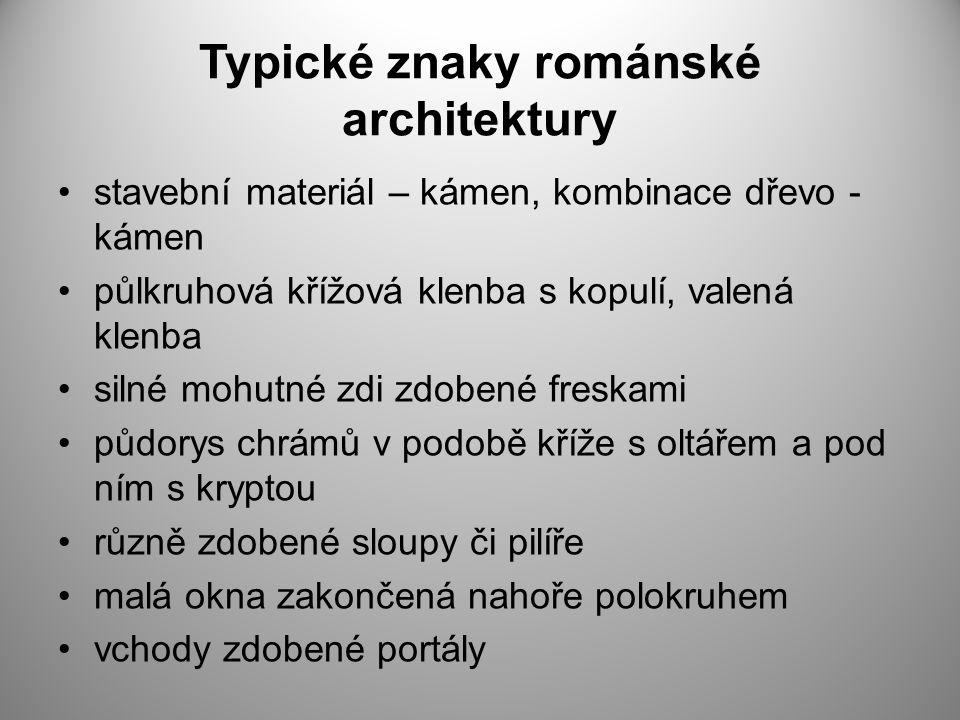 Typické znaky románské architektury