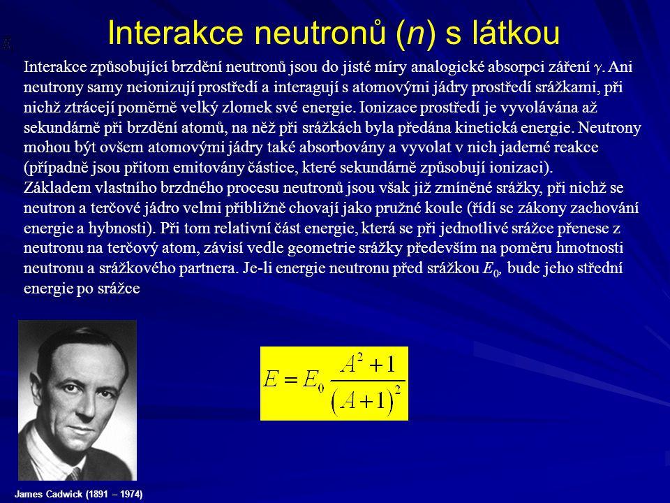 Interakce neutronů (n) s látkou