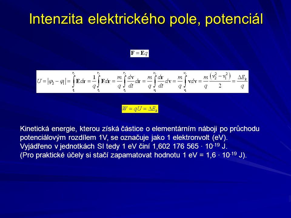 Intenzita elektrického pole, potenciál