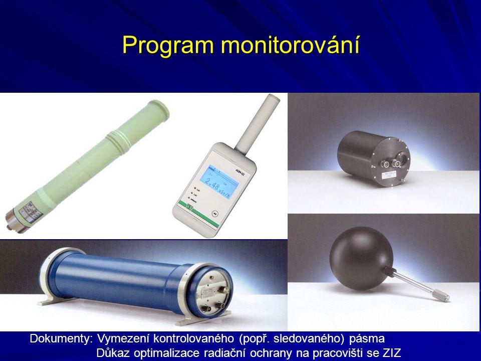 Program monitorování Dokumenty: Vymezení kontrolovaného (popř.