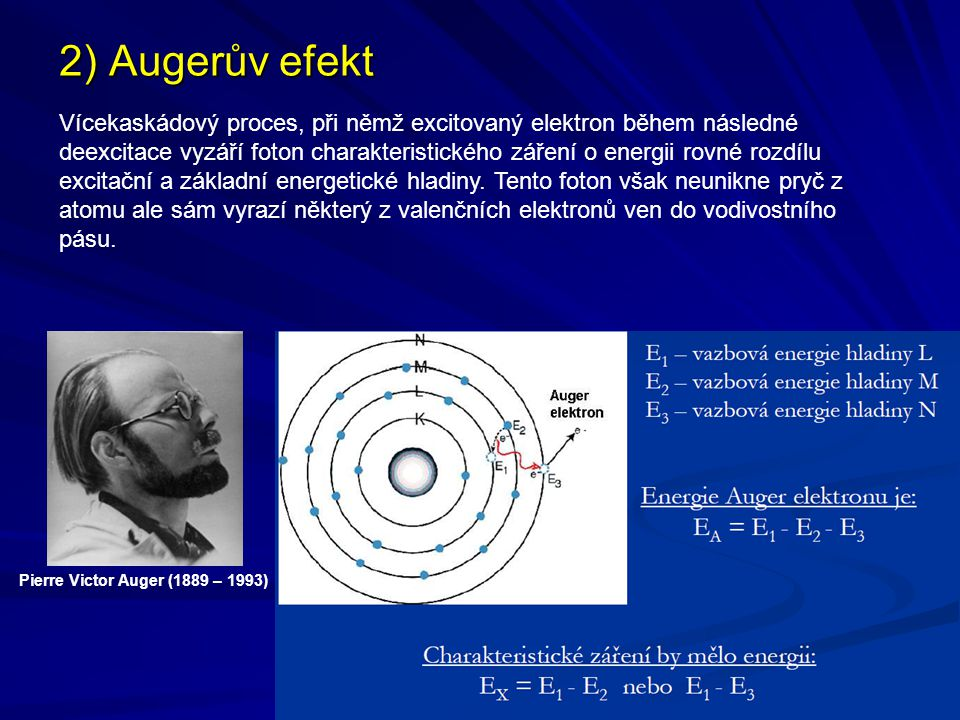 2) Augerův efekt