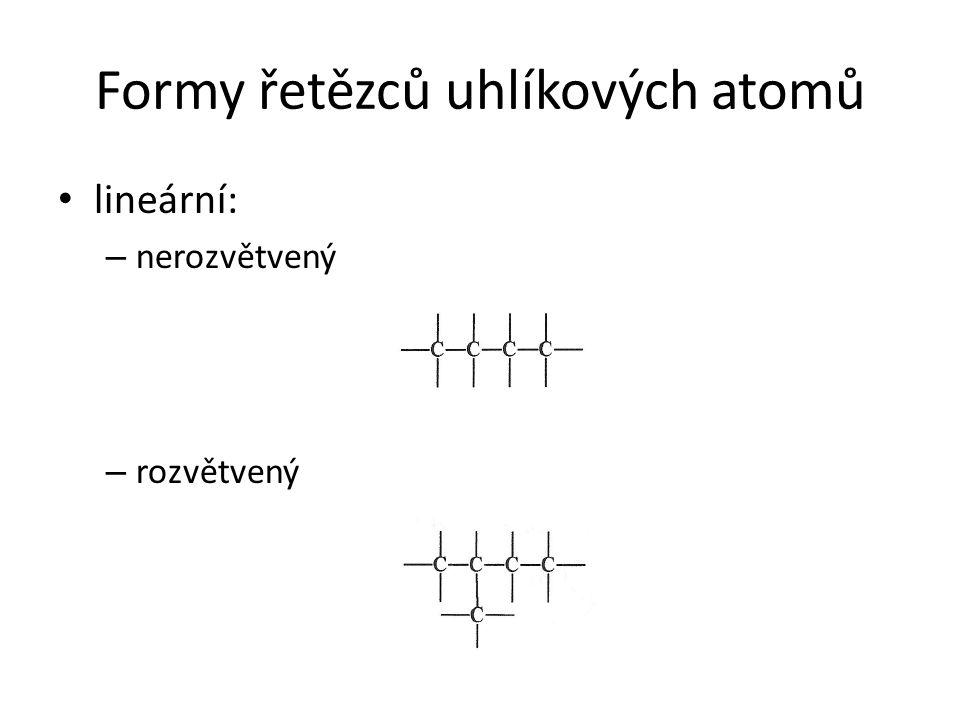 Formy řetězců uhlíkových atomů