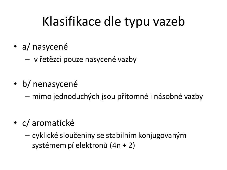 Klasifikace dle typu vazeb