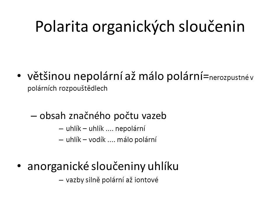 Polarita organických sloučenin