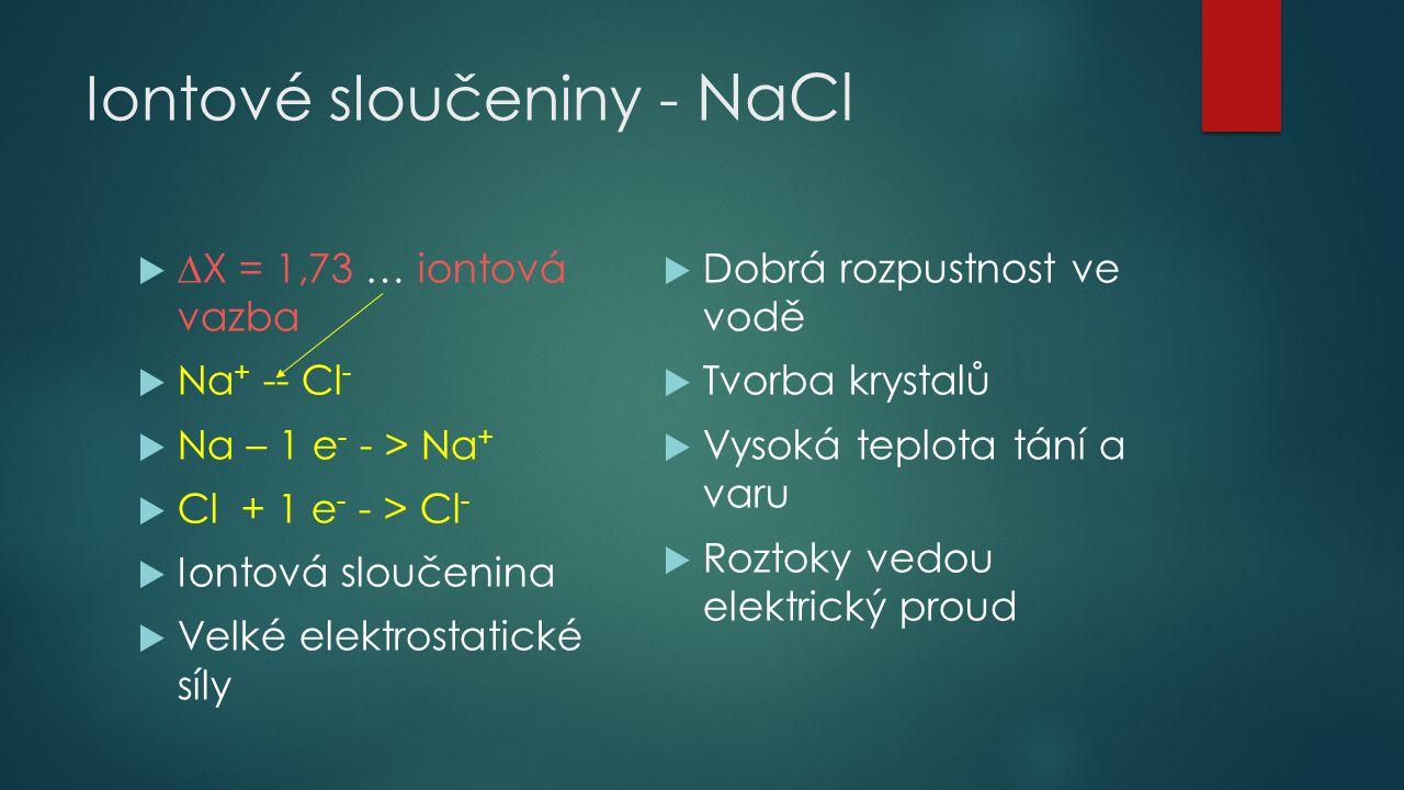 Iontové sloučeniny - NaCl
