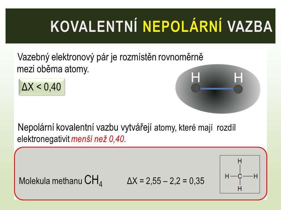 kovalentní nepolární vazba