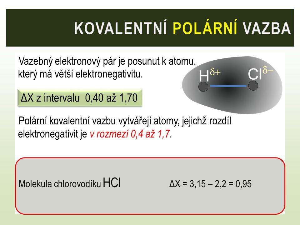 kovalentní polární vazba