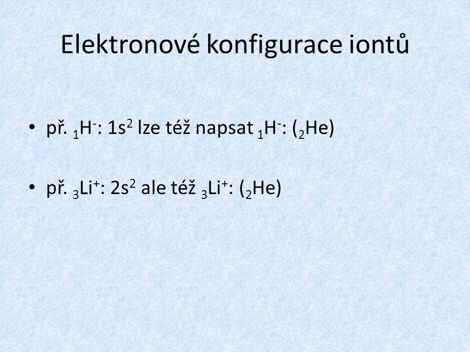 Elektronové konfigurace iontů