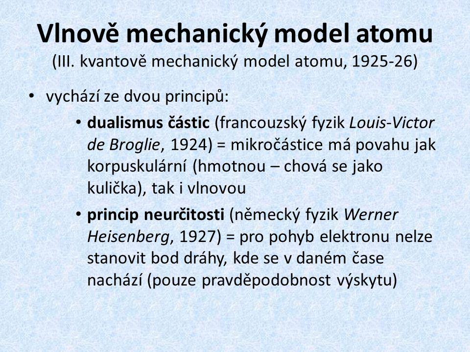 Vlnově mechanický model atomu (III