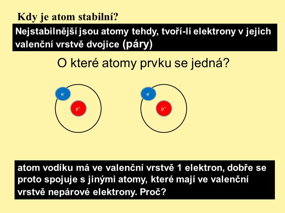 O které atomy prvku se jedná
