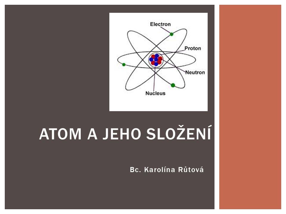 Atom a jeho složení Bc. Karolína Růtová