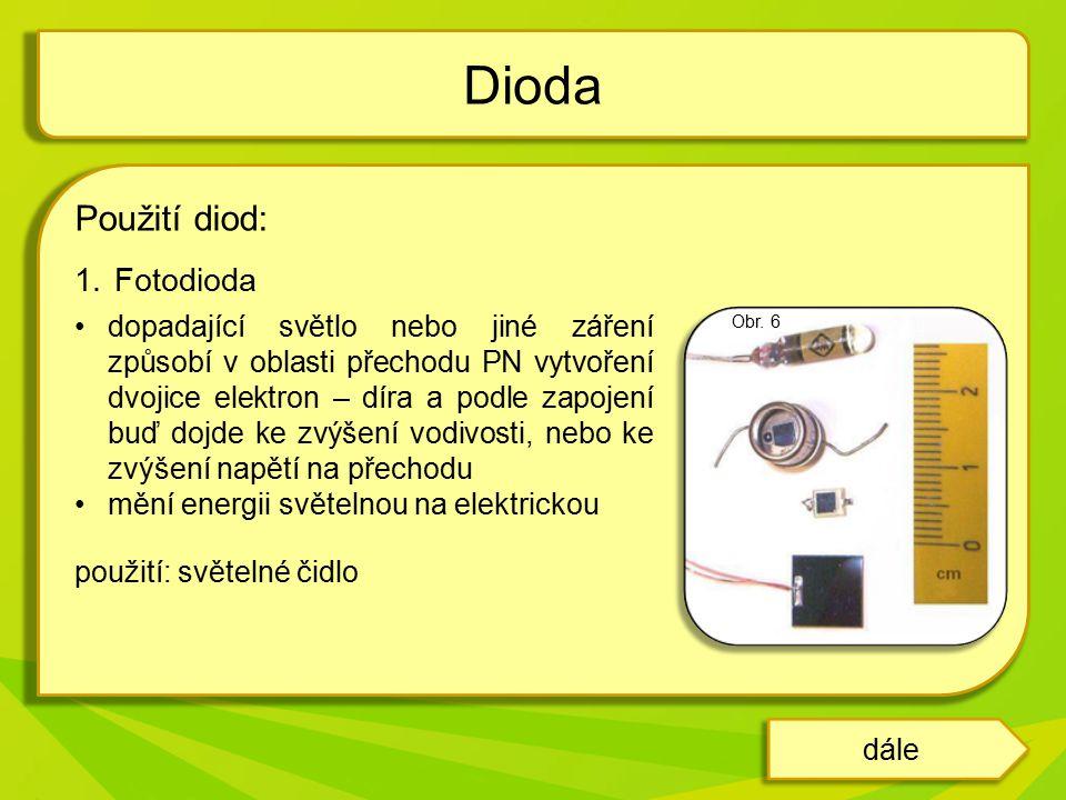 Dioda Použití diod: Fotodioda