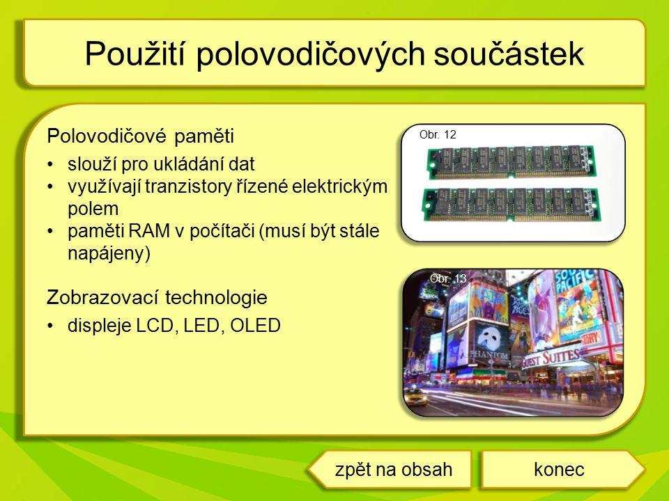 Použití polovodičových součástek