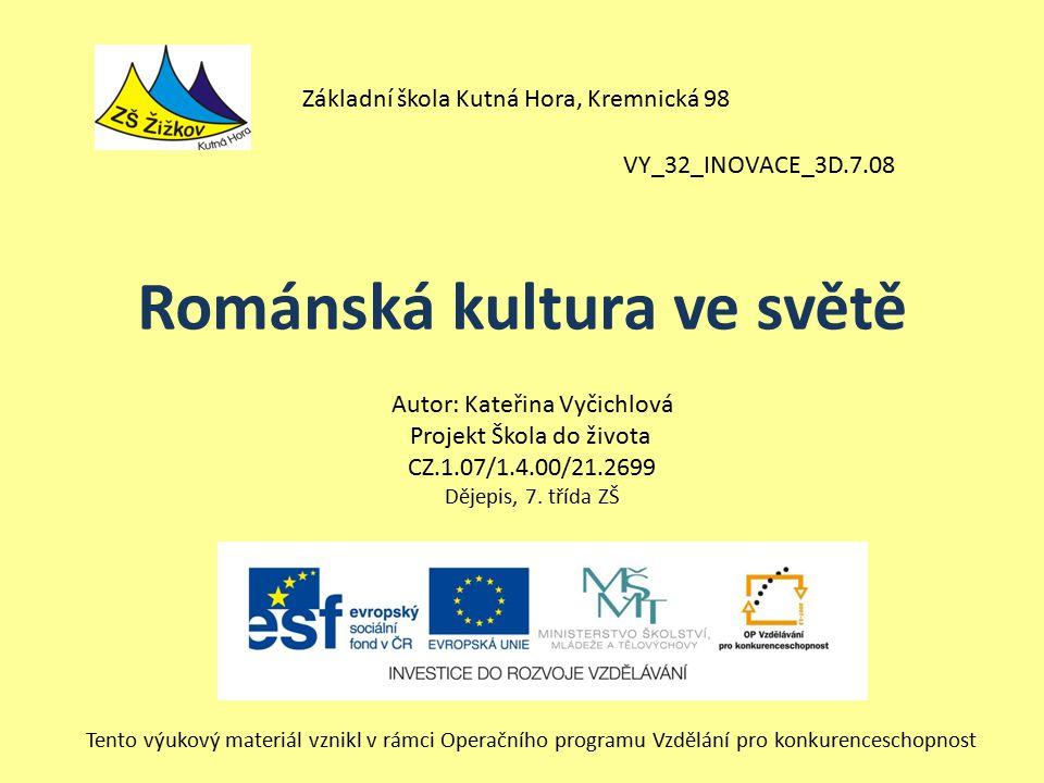 Románská kultura ve světě