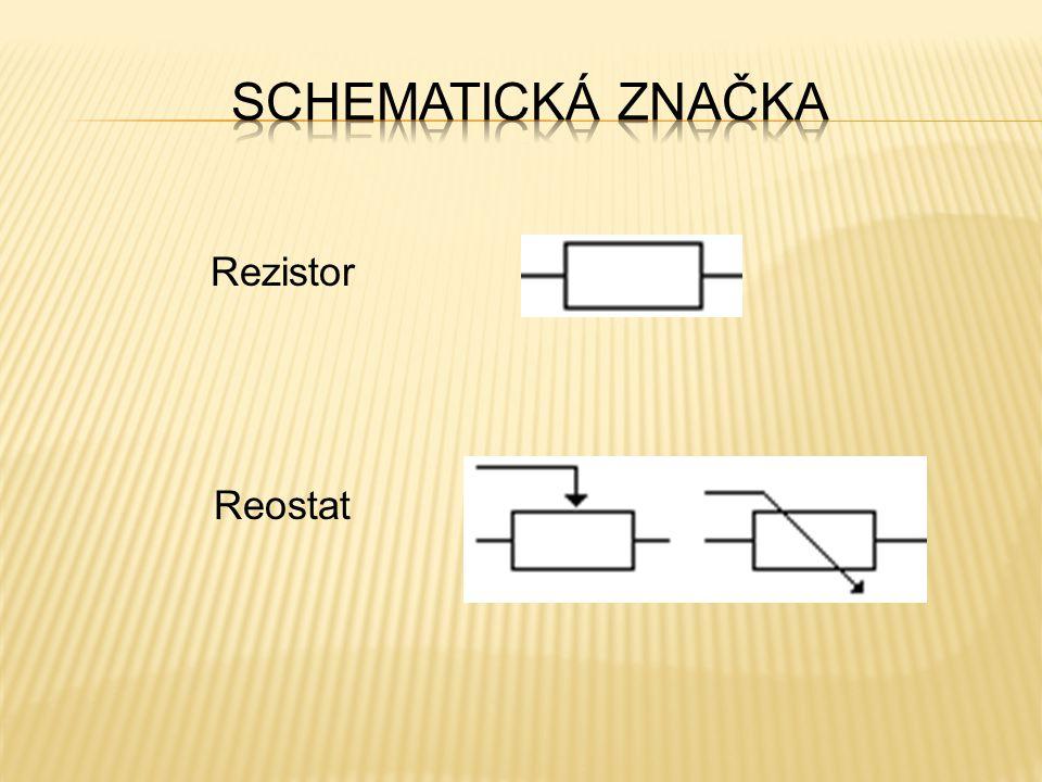 Schematická značka Rezistor Reostat