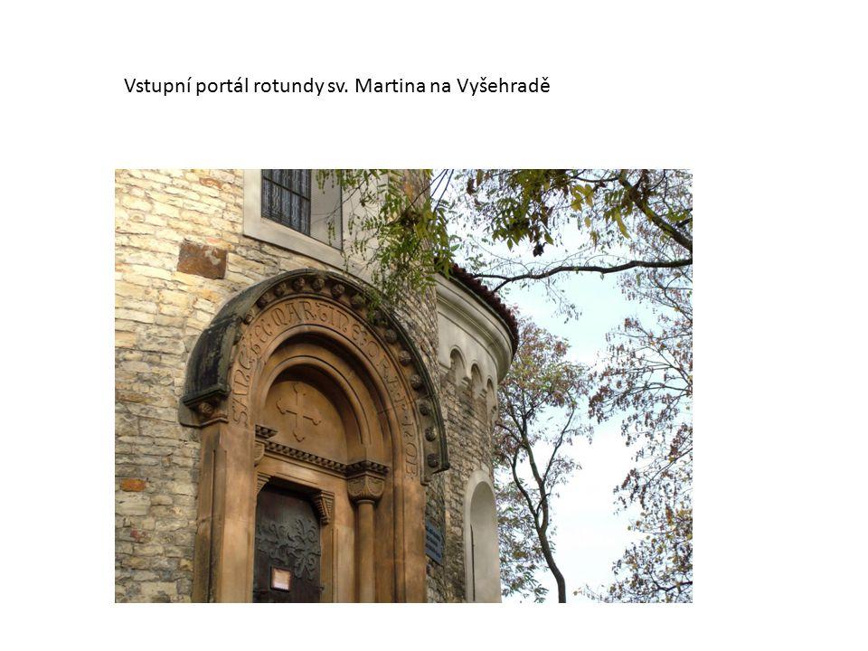 Vstupní portál rotundy sv. Martina na Vyšehradě