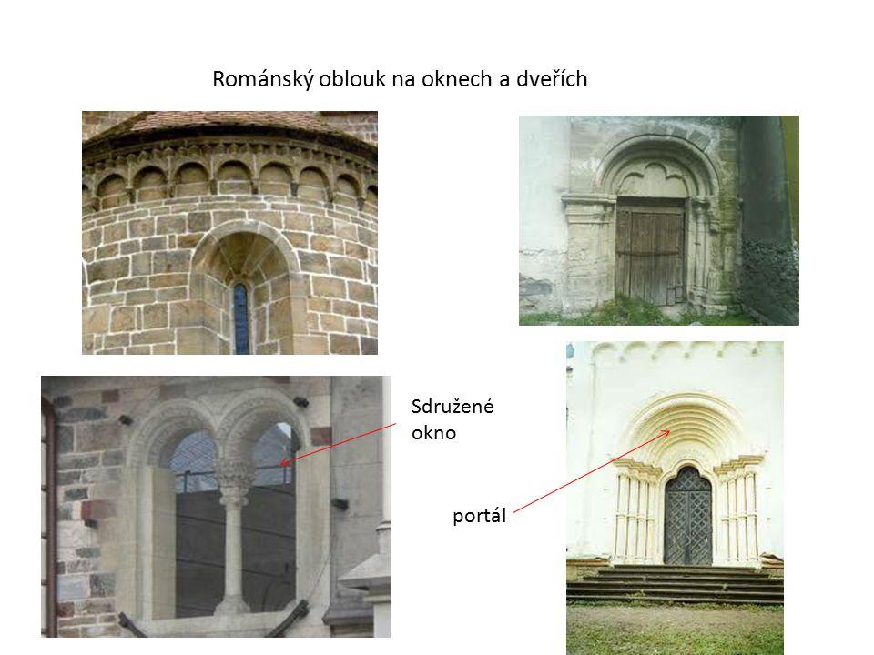 Románský oblouk na oknech a dveřích