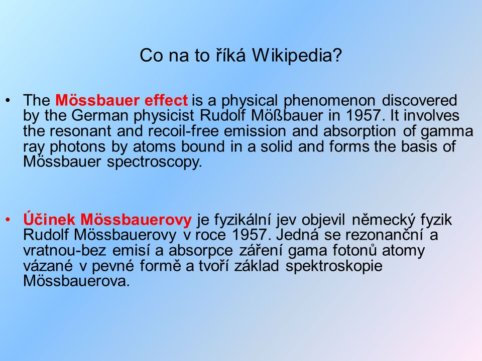 Co na to říká Wikipedia