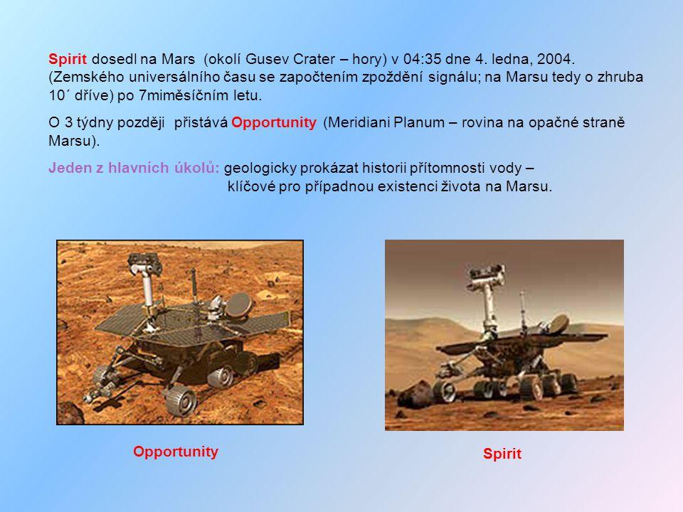Spirit dosedl na Mars (okolí Gusev Crater – hory) v 04:35 dne 4