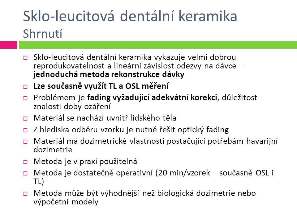 Sklo-leucitová dentální keramika Shrnutí