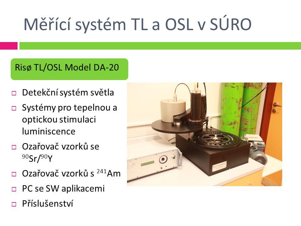 Měřící systém TL a OSL v SÚRO
