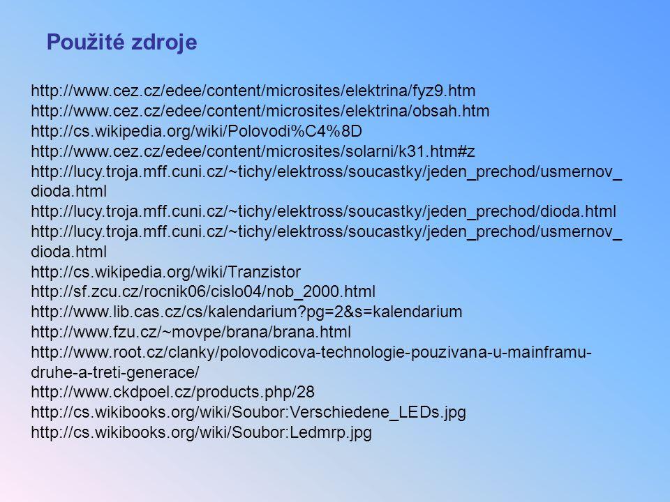 Použité zdroje http://www.cez.cz/edee/content/microsites/elektrina/fyz9.htm. http://www.cez.cz/edee/content/microsites/elektrina/obsah.htm.