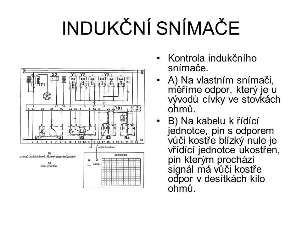 INDUKČNÍ SNÍMAČE Kontrola indukčního snímače.