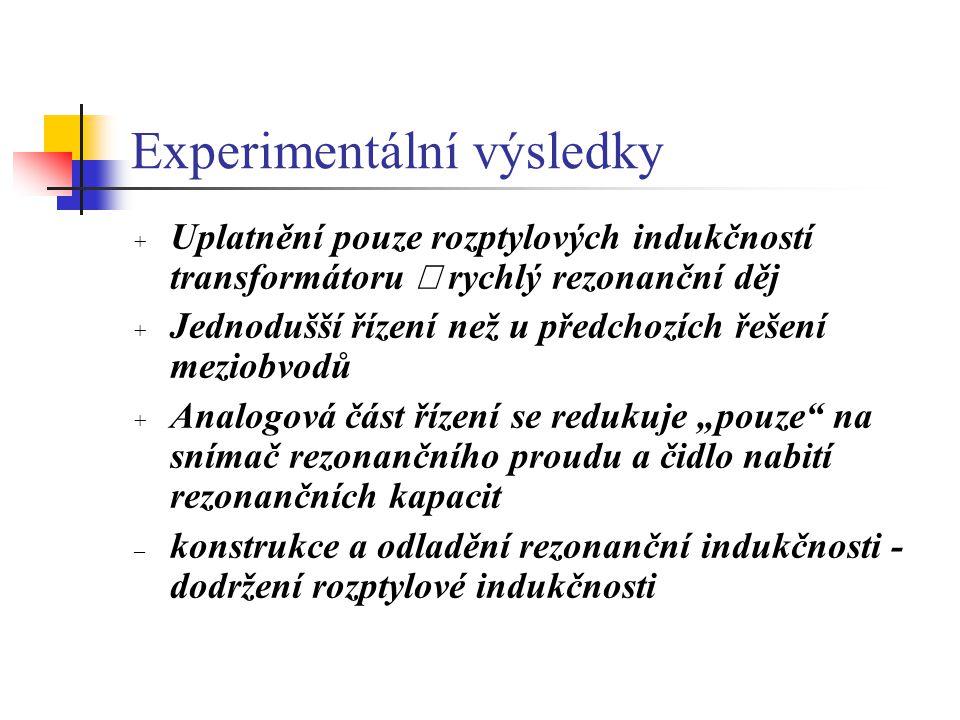 Experimentální výsledky