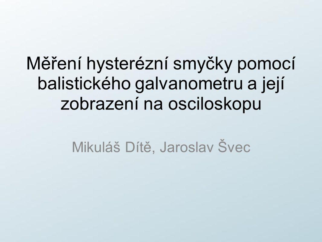 Mikuláš Dítě, Jaroslav Švec