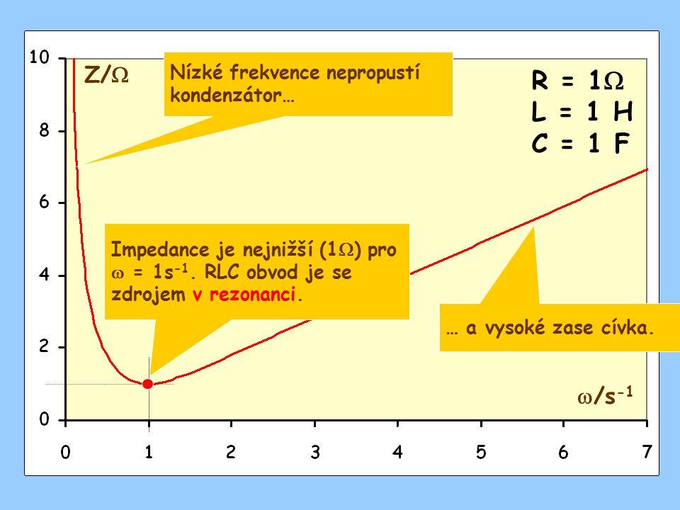Nízké frekvence nepropustí kondenzátor…