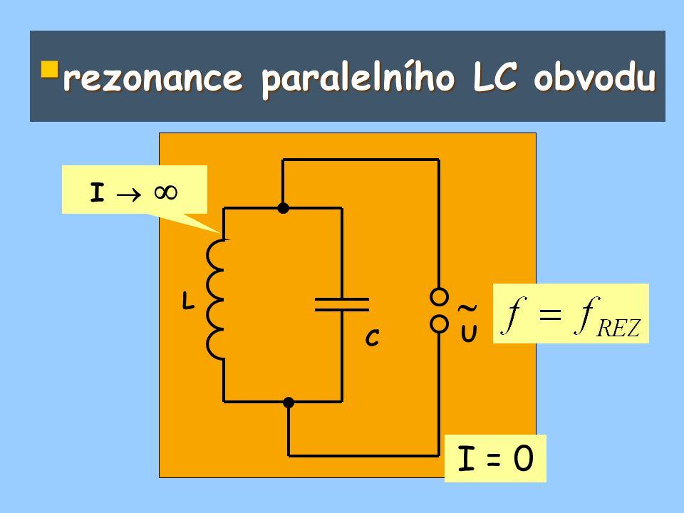 rezonance paralelního LC obvodu