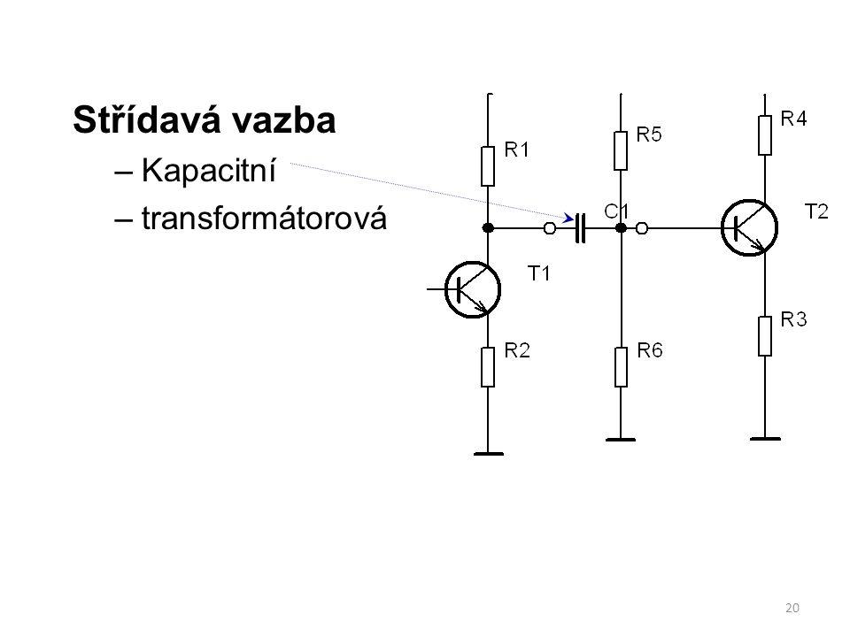 Střídavá vazba Kapacitní transformátorová