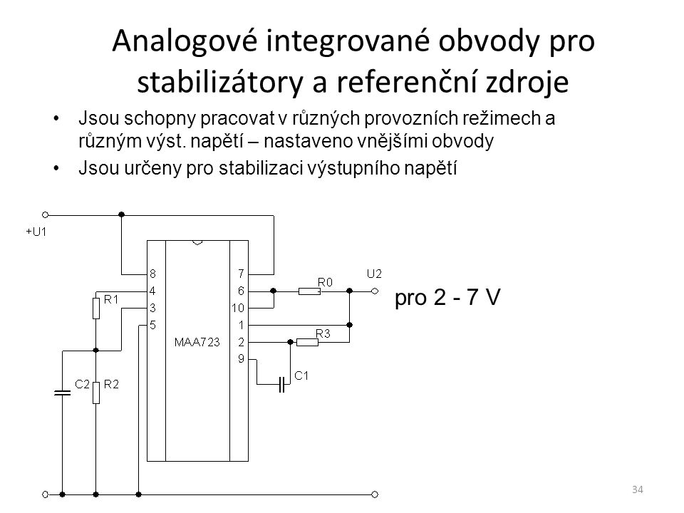 Analogové integrované obvody pro stabilizátory a referenční zdroje