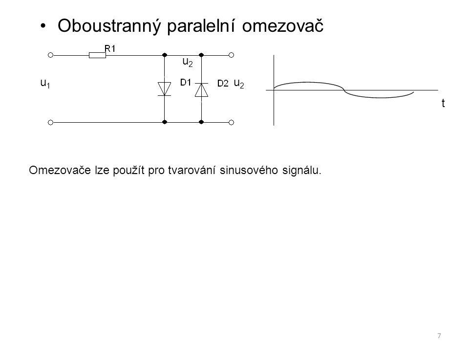Oboustranný paralelní omezovač